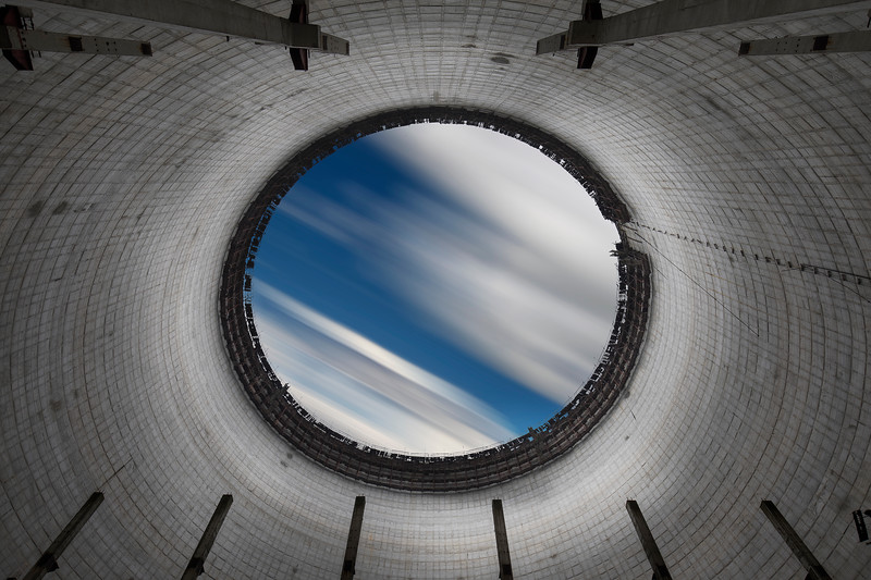 Colored cooling tower