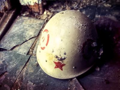 11 Pripyat helmut © David Bickerstaff
