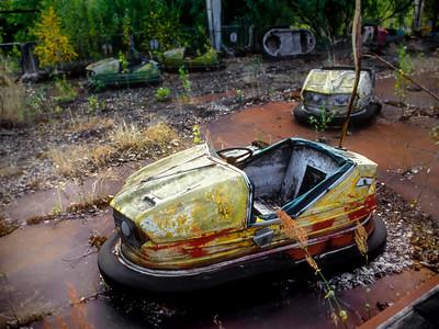 01 Dodgem cars © David Bickerstaff