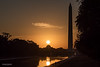 Sunrise over the rotunda of the Smithsonian National Museum of American History