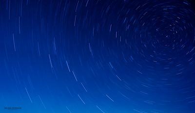 Star trails on Chincoteague Island