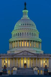 The U.S. Capitol before dawn