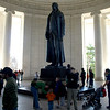 Statue of Thomas Jefferson, Jefferson Memorial, Washington, DC, April 4, 2009.