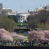 The White House seen from the Jefferson Memorial, Washington, DC, April 4, 2009.