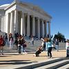 Visitors enjoy the Jefferson Memorial at the Tidal Basin, Washington, DC, April 4, 2009.