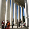 Behind the Jefferson Memorial, Washington, DC, April 4, 2009.