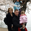 Family friends enjoy the cherry blossoms at the Tidal Basin, Washington, DC, March 30, 2009.