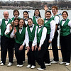 Irish singers prepare to perform at the National Cherry Blossom Festival in Washington, DC, March 30, 2008.