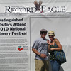"Saturday, July 3, 2010 : Visit the Record-Eagle booth at the Cherry Festival and get your ""Distinguished Visitor"" photo taken! Download your photo here for free, or buy a reprint.  To download your photo: Click the thumbnail image, and once the larger photo loads, right-click on the image and choose the Save option.  To purchase a reprint: Click the thumbnail image, and once the larger photo loads, click the Buy button above the photo to the right."