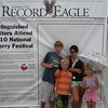 "Wednesday, July 7, 2010 : Visit the Record-Eagle booth at the Cherry Festival and get your ""Distinguished Visitor"" photo taken! Download your photo here for free, or buy a reprint.  To download your photo: Click the thumbnail image, and once the larger photo loads, right-click on the image and choose the Save option.  To purchase a reprint: Click the thumbnail image, and once the larger photo loads, click the Buy button above the photo to the right."