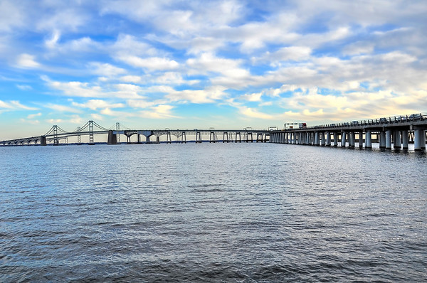 Blue Skies Over the Bay Bridge