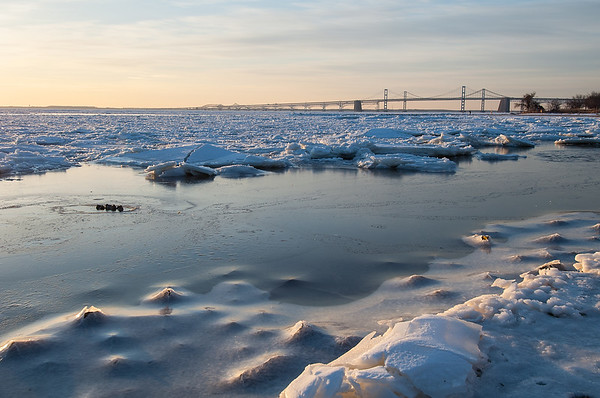 Blue Ice on the Bay