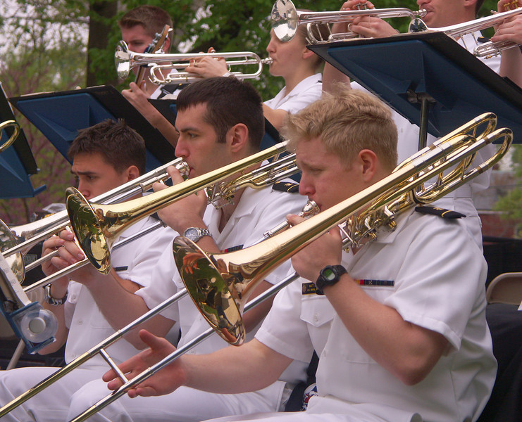The Navy band.