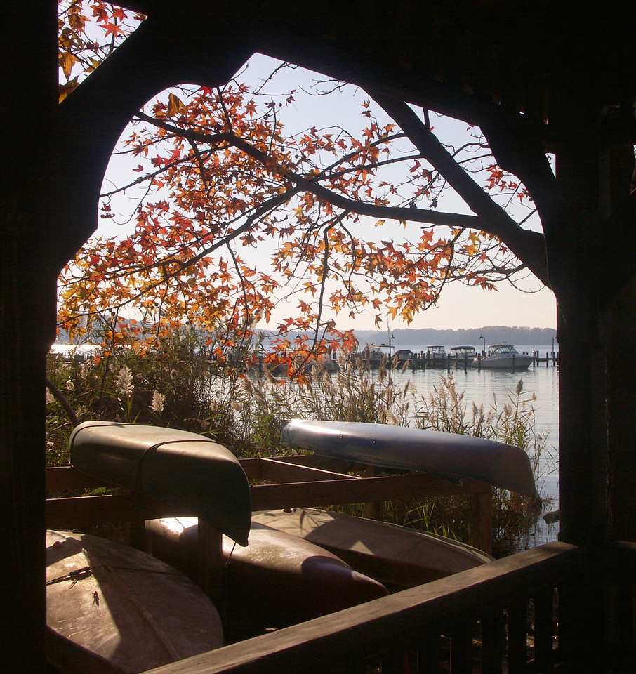 View of Severn River from the Gazebo of the Belleview Estates beach in Severna Park.