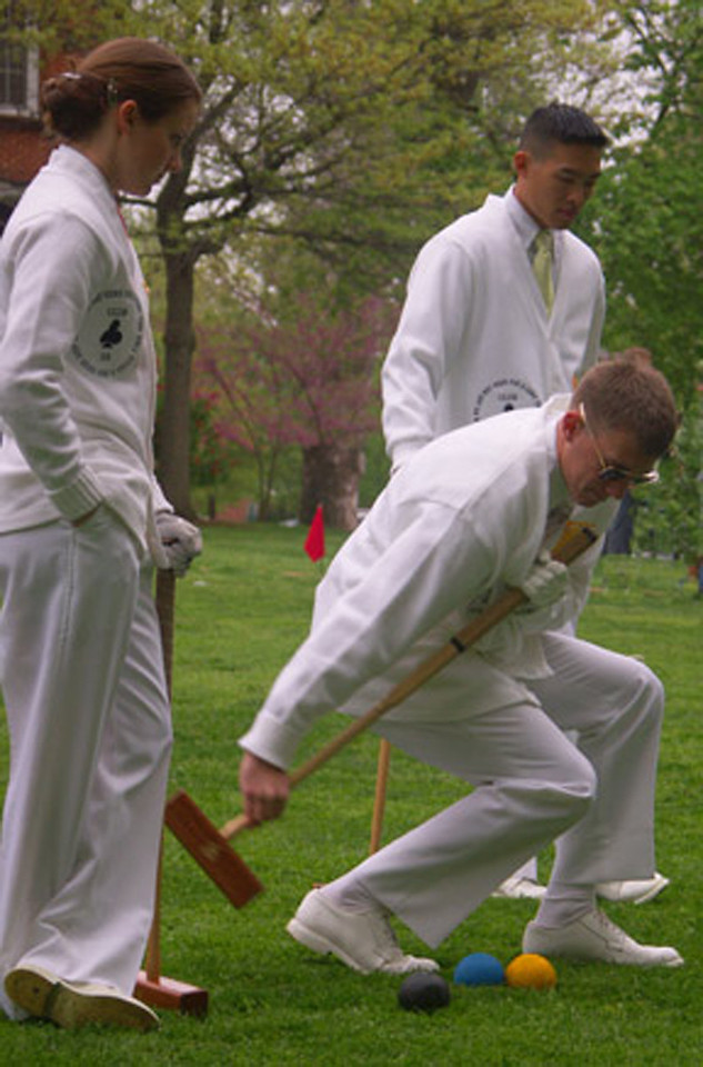 Navy - St John's annual croquet match.