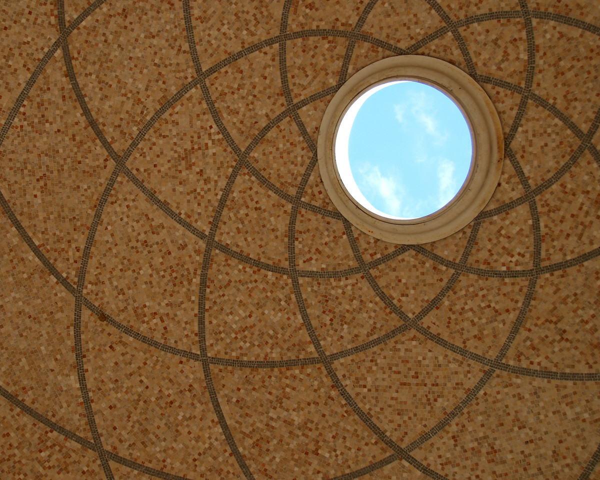 Roof of the entrance to the Hebrew Temple on the grounds of the Naval Academy.