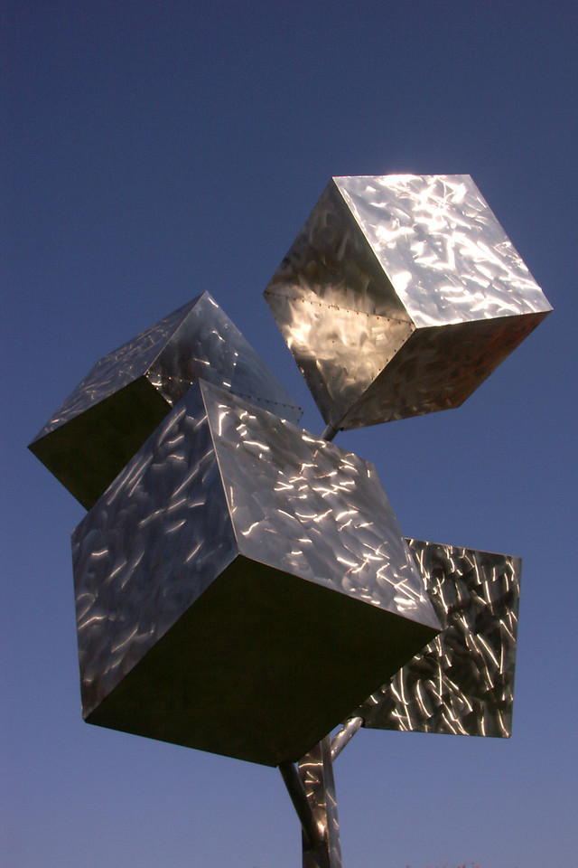 Cubes in the Smithsonian Sculpture Gardens.