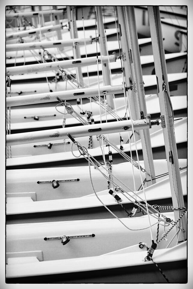 USNA sailboats