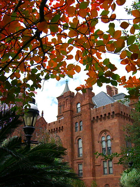 Rear view of the Smithsonian Castle.