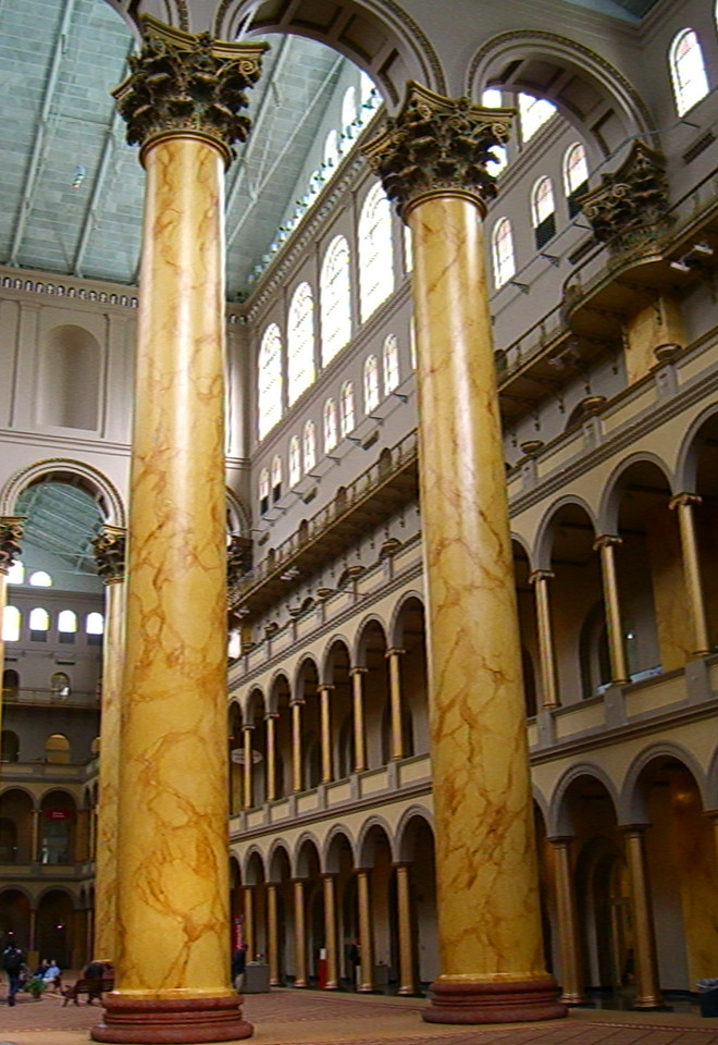 Inside the National Building Museum.