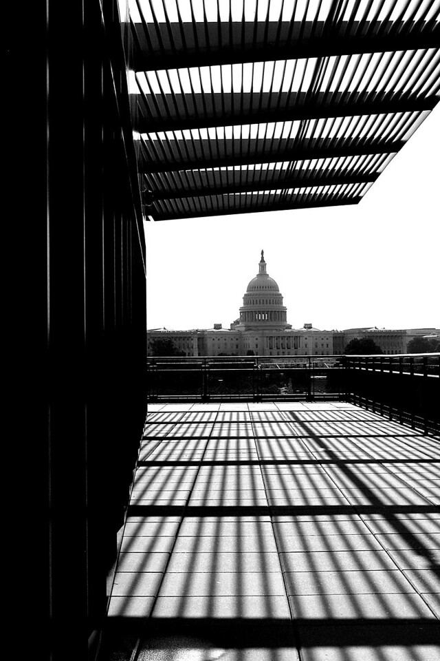 U.S. Capital seen from the terrace of the Newseum