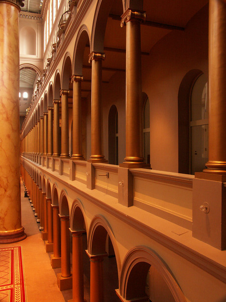 Views inside the National Building Museum.