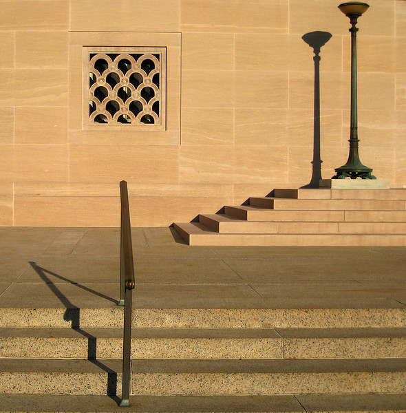 Shadows at the entrance to the National Gallery of Art West Building
