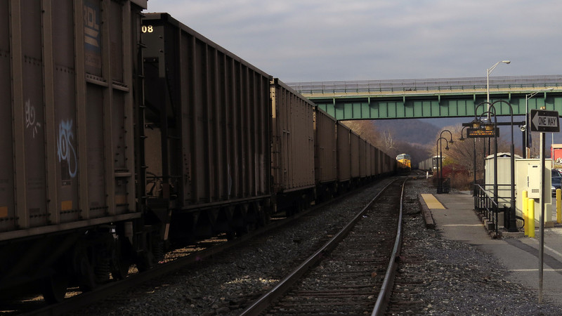 12-15-2014 Level walk delayed due to freight train blocking towpath access