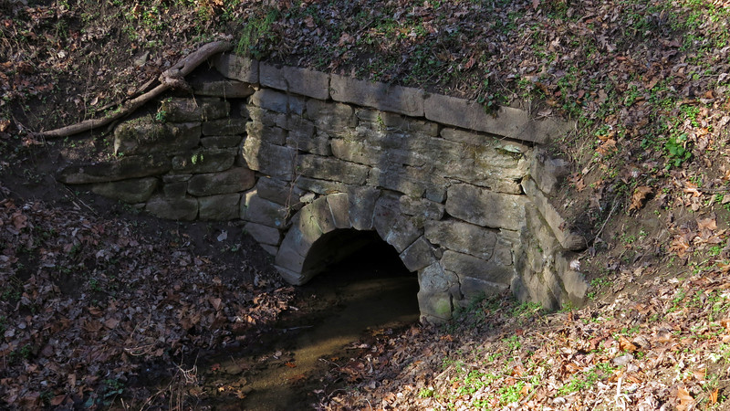 C&O Canal Culvert 81 towpath portal at mile 52.27_Dec 15, 2014 condition