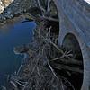 Large amount of debris fouled on Catoctin Creek Aqueduct 12-15-2014