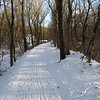 Snow covered towpath approach to Lock 29 (Lander)