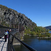 Goodloe E. Byron Memorial Footbridge attached to the old B&O Railroad trestle across the Potomac River at Harpers Ferry WV