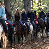 Horseback riders encountered on the towpath
