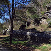 Dry-laid stone berm wall at Harpers Ferry