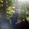 Horse riding woman