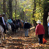 C&OCA Heritage hikers encounter group of equestrians on the towpath