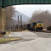 CSX coal train parked at Brunswick Maryland.
