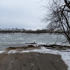 C&O Canal Edwards Ferry boatramp. River is full of ice but unbelieavably there are bass boats out in the in the river.