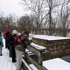 C&OCA hikers paused at Broad Run Trunk (Aqueduct?)