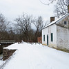 C&O Canal lockhouse 25 at Edwards Ferry after January snow storm.