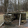 Really nice stone fireplace at the C&O Canal Park owned home