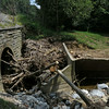 Concrete replacement berm portal for Culvert 82 (Little Catoctin Creek) Blocked by flood debris
