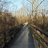 Wooden bridge carries towpath over remains of Little Catoctin Creek culvert
