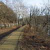 Harpers Ferry Rd above dry-set stone wall