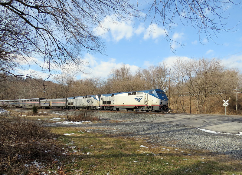 Amtrak's Capitol Limited passing through Weverton.