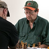 The Wachusett Chess Club held the Rocco R. Pasquale Memorial chess tournaments on Wednesday, September 4, 2019 at Fitchburg State University's McKay Campus School. Paul Godin of Bedford waits for his opponent John Bastarache of Fitchburg to make a move. SENTINEL & ENTERPRISE/JOHN LOVE