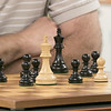 The Wachusett Chess Club held the Rocco R. Pasquale Memorial chess tournaments on Wednesday, September 4, 2019 at Fitchburg State University's McKay Campus School. This white queen is surrounded by pawns during this game. SENTINEL & ENTERPRISE/JOHN LOVE