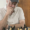The Wachusett Chess Club held the Rocco R. Pasquale Memorial chess tournaments on Wednesday, September 4, 2019 at Fitchburg State University's McKay Campus School. Dave Couture of Westminster things about his next move during the tournament. SENTINEL & ENTERPRISE/JOHN LOVE