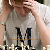 The Wachusett Chess Club held the Rocco R. Pasquale Memorial chess tournaments on Wednesday, September 4, 2019 at Fitchburg State University's McKay Campus School. Ralph McNeilage of Worcester tries to figure out his next move during the tournament. SENTINEL & ENTERPRISE/JOHN LOVE