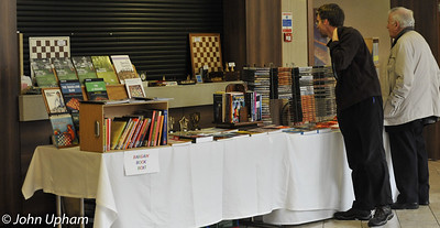 The Chess Direct bookstall attracted many customers.